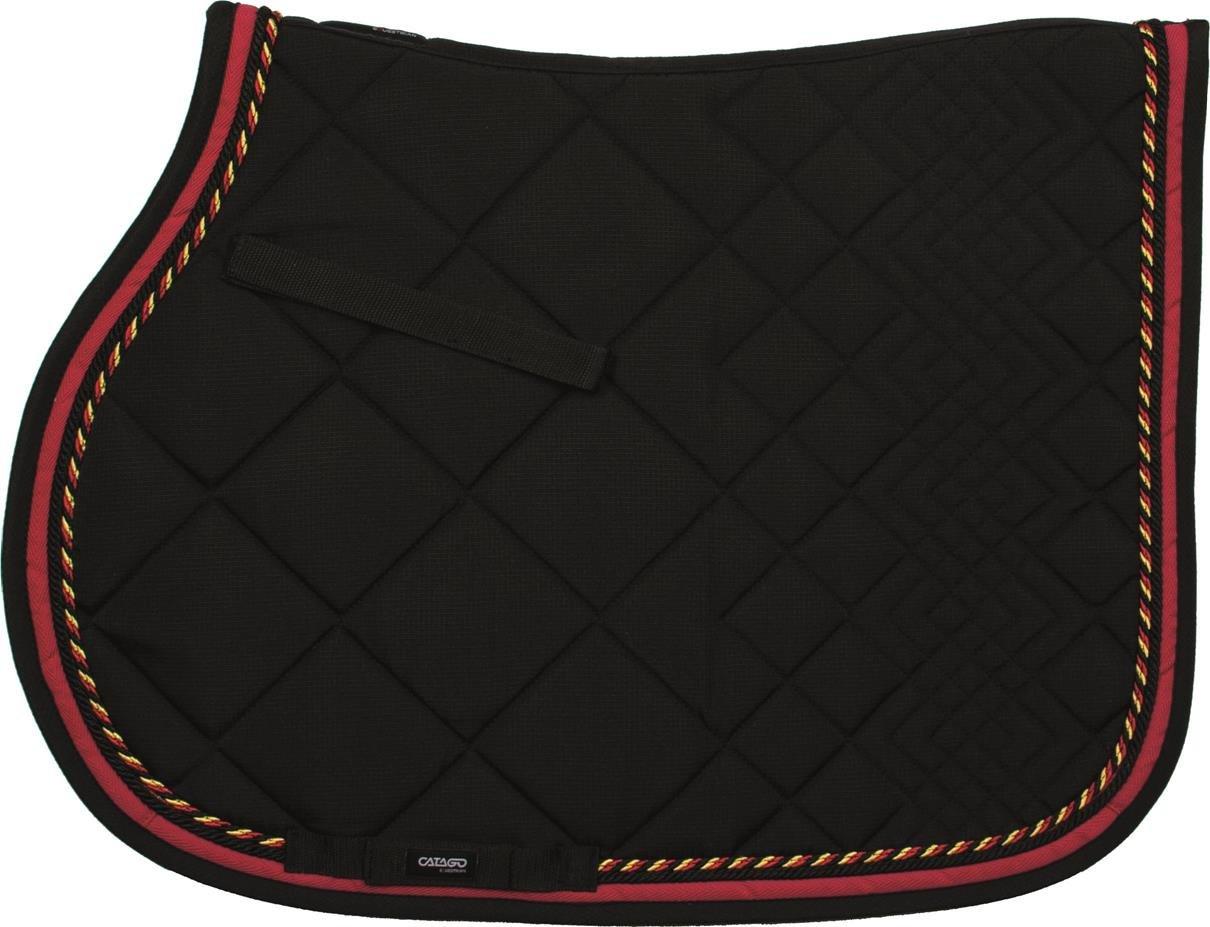 Black Red Yellow N ACATAGO Diamond Series All.p.16 Saddle Pad