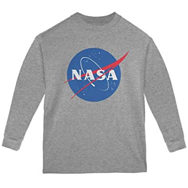 c457ff5c Amazon.com: Old Glory NASA Logo Youth Long Sleeve T Shirt: Clothing