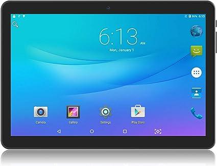 Tableta Android de 10 pulgadas con dos ranuras para tarjetas SIM y cámaras, computadora tabletas, WiFi, Bluetooth, GPS, OTG, Google Play, Netflix, YouTube: Amazon.es: Informática