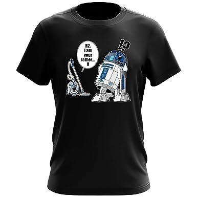 T-Shirt Noir Star Wars parodique R2-D2 :