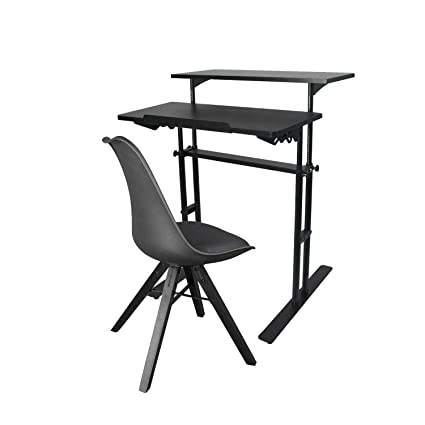 Swell Yuiky Office Desk Chair Set Adjustable Wood Stand Desk And Wood Legs Chair Modern Design For Kids Adults Ocoug Best Dining Table And Chair Ideas Images Ocougorg