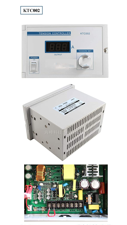 Huanyu - Máquina de control de polvo magnética manual con potenciómetro PLC externo de 0 a 10 V para frenos de polvo magnéticos/regulador de voltaje de ...