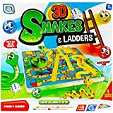 3D Snakes And Ladders Kids Board Game Traditional Family Toy 3+ Years Grafix