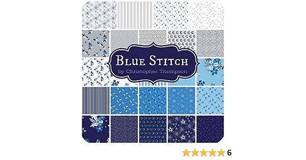 Riley Blake l'arche designer tissu c3831 bleu 100/% coton fat trimestre ou plus