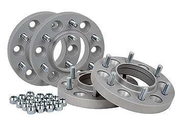 Separadores de rueda de aluminio 4 unidades (20 mm por disco/40 mm por eje) incl. Con certificado TÜV.: Amazon.es: Coche y moto