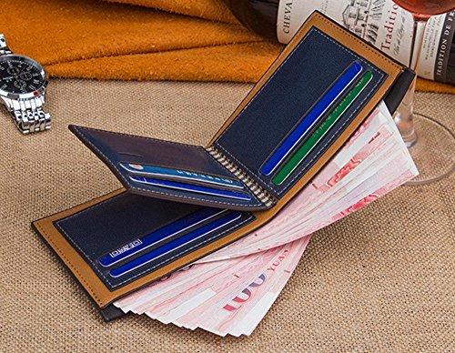 Aolvo De Tarjetas Billetera Con Cuero Crédito Monedero Café Cartera Hombre Para SCTqSwr