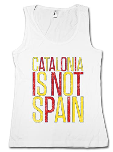 Catalonia IS Not Spain Donna Canotta Tank Top Woman Gym Training Fitness Shirt – Taglie S – XL