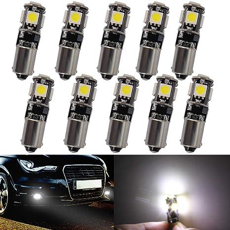 Luces LED de coche BA9S Canbus Bombillas LED de cuña de coche 5 SMD 5050 indicadores