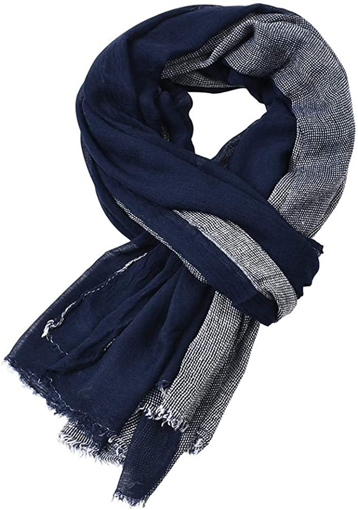 Lenfesh Multicolor Algodón y lino Unisex Bufanda de rayas de invierno Bufandas de borla corta suave Bufandas de invierno largas para hombres Mujeres: Amazon.es: Ropa y accesorios