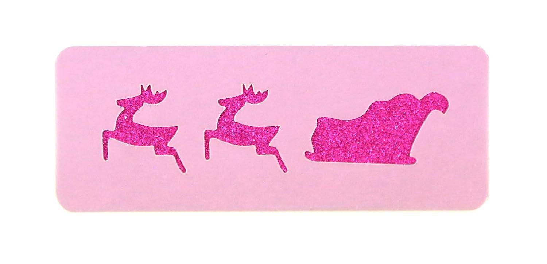 Fancy Schmancy Santa's Sleigh Forehead Face Paint Stencil 11cm x 4.5cm Washable Reusable