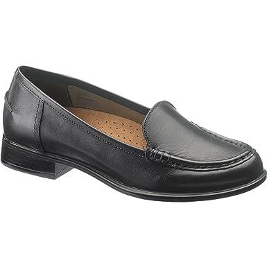 Hush Puppies Blondelle Mujer Negro Piel Mocasines Zapatos Talla EU 35: Amazon.es: Ropa y accesorios