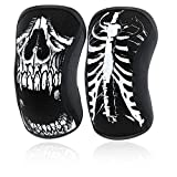 RockTape Assassins Sleeves Skull 5mm Knee Pads, Unisex, ART002556, skull, XS
