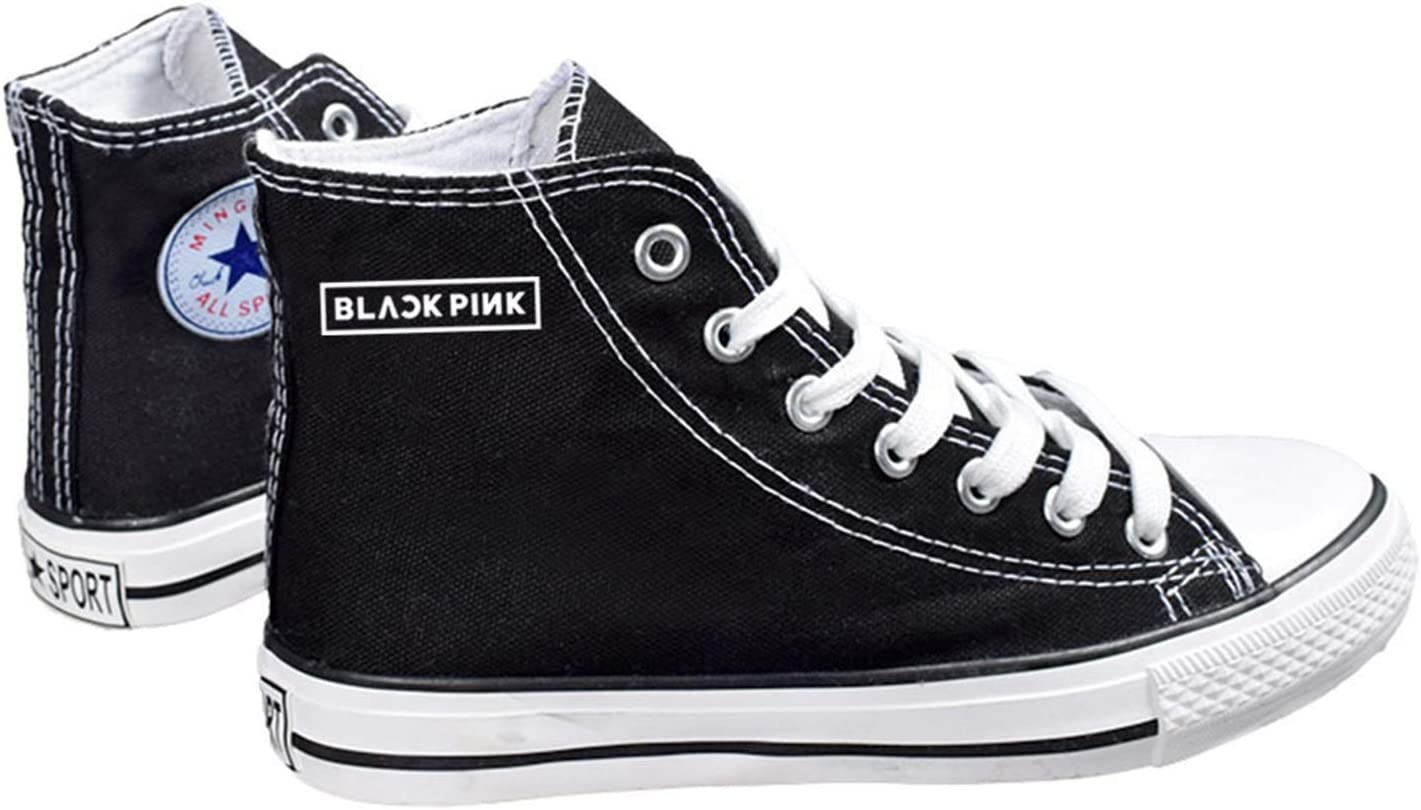 Amazon Com Chairay Kpop Blackpink Canvas Shoes Lisa Jennie Jisoo