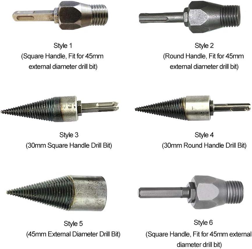 poign/ée ronde uniquement Fendeuse /à bois Poign/ée de foret /à bois Forets Outils de forage Accessoires