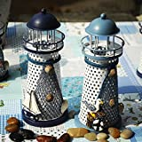 Eastern Mediterranean style LED beacon iron candlestick creative home decorations home desktop ornaments