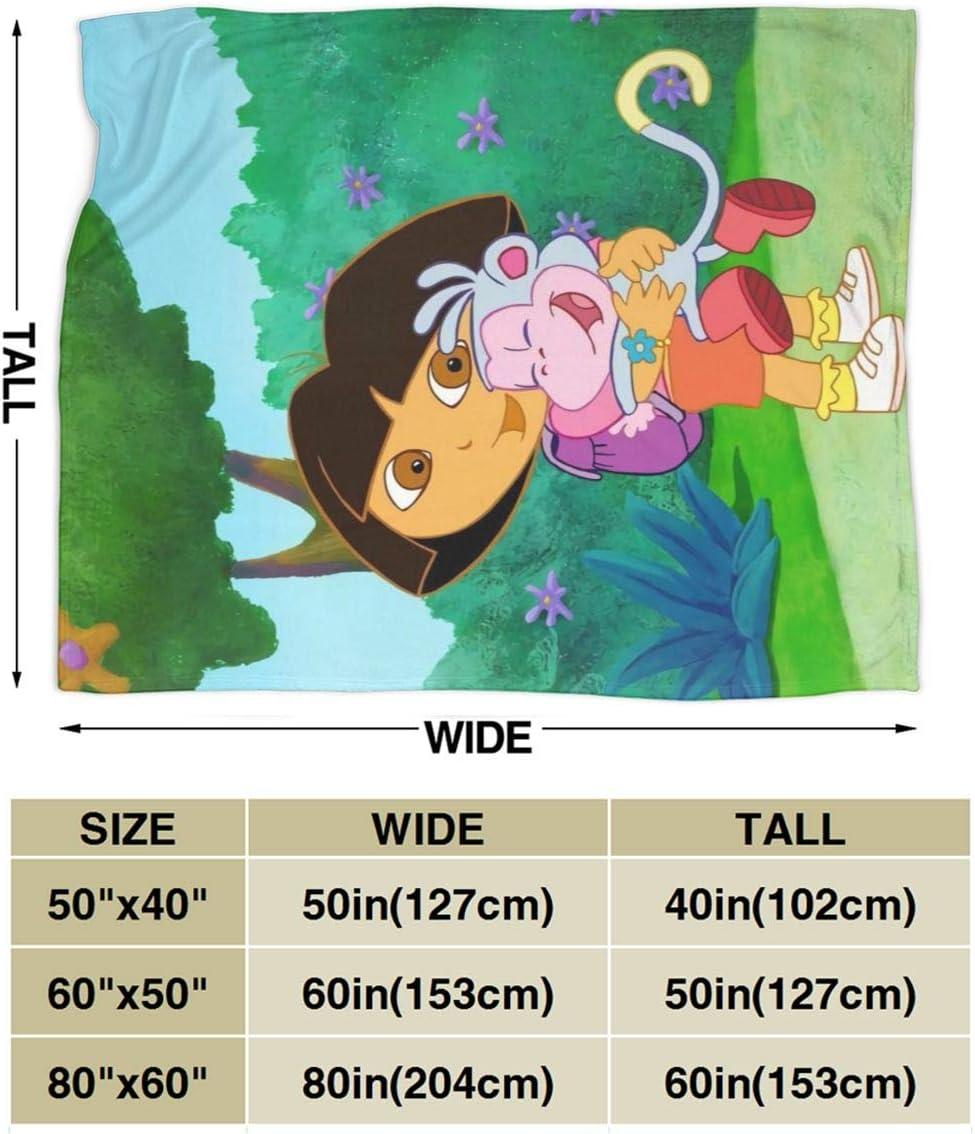 Dora The Explorer Wild Kratts Blankets Super Soft Warm Faux Fur Throw Blanket Ultra-Soft Micro Fleece Blanket Twin Lightweight Warm