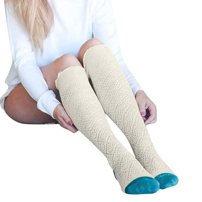 Italily Ragazze Donne Calzini ginocchio Lungo cotone calze