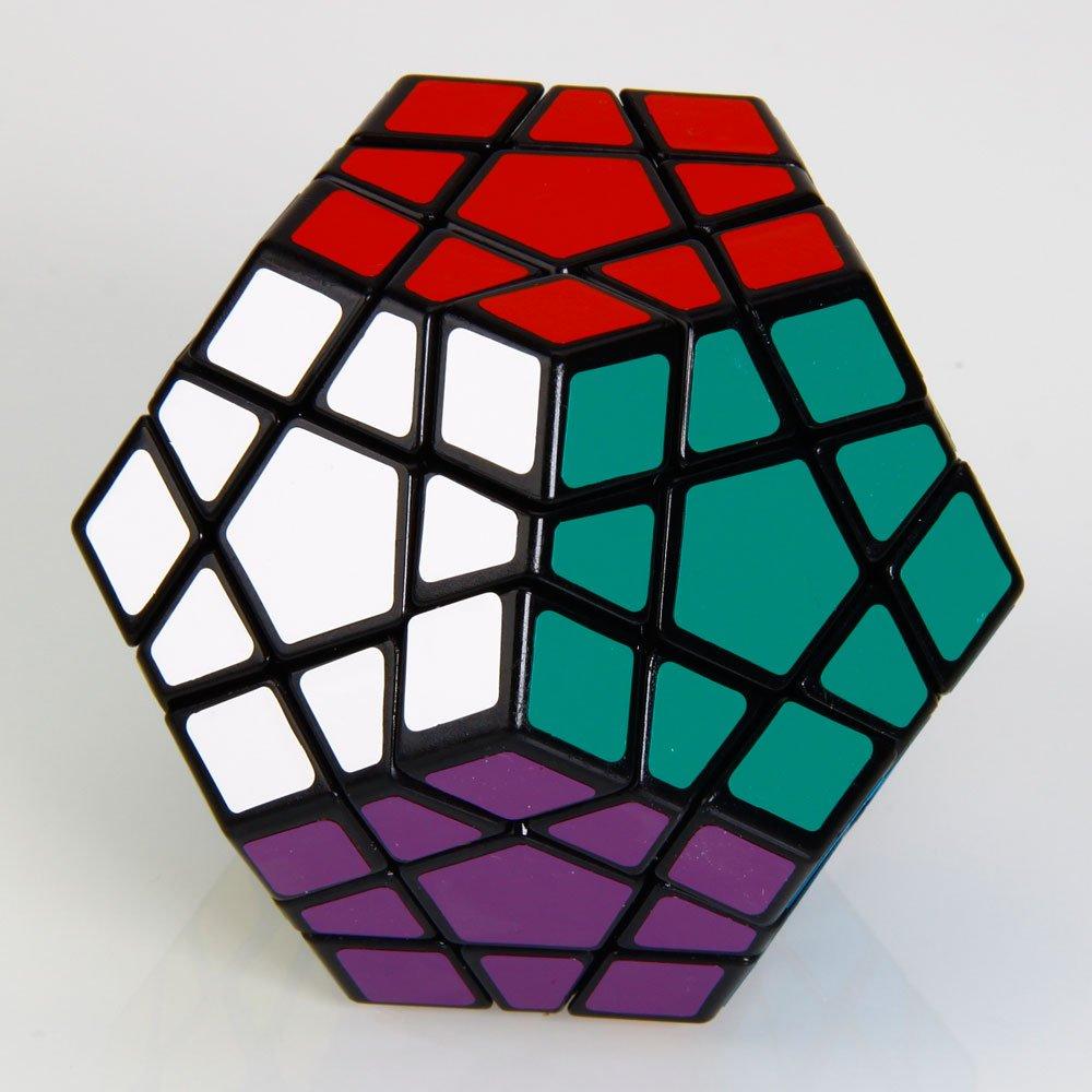Shengshou Megaminx Brain Teaser Magic Cube Speed Twisty Puzzle Toy Black