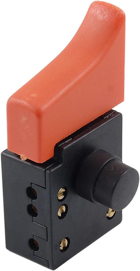 Sourcingmap/® FA3-6//1BF Verrouillage SPST sur Bouton d/éclenchement loutil /électrique Commutateur AC 250V 6A 5E4