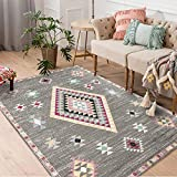 vctops Geometric Abstract Pattern Collection Area Rugs for Living Room, Bedroom, Anti-Slip, Water-Repellent HC23 2' X 3'/60 X 90CM