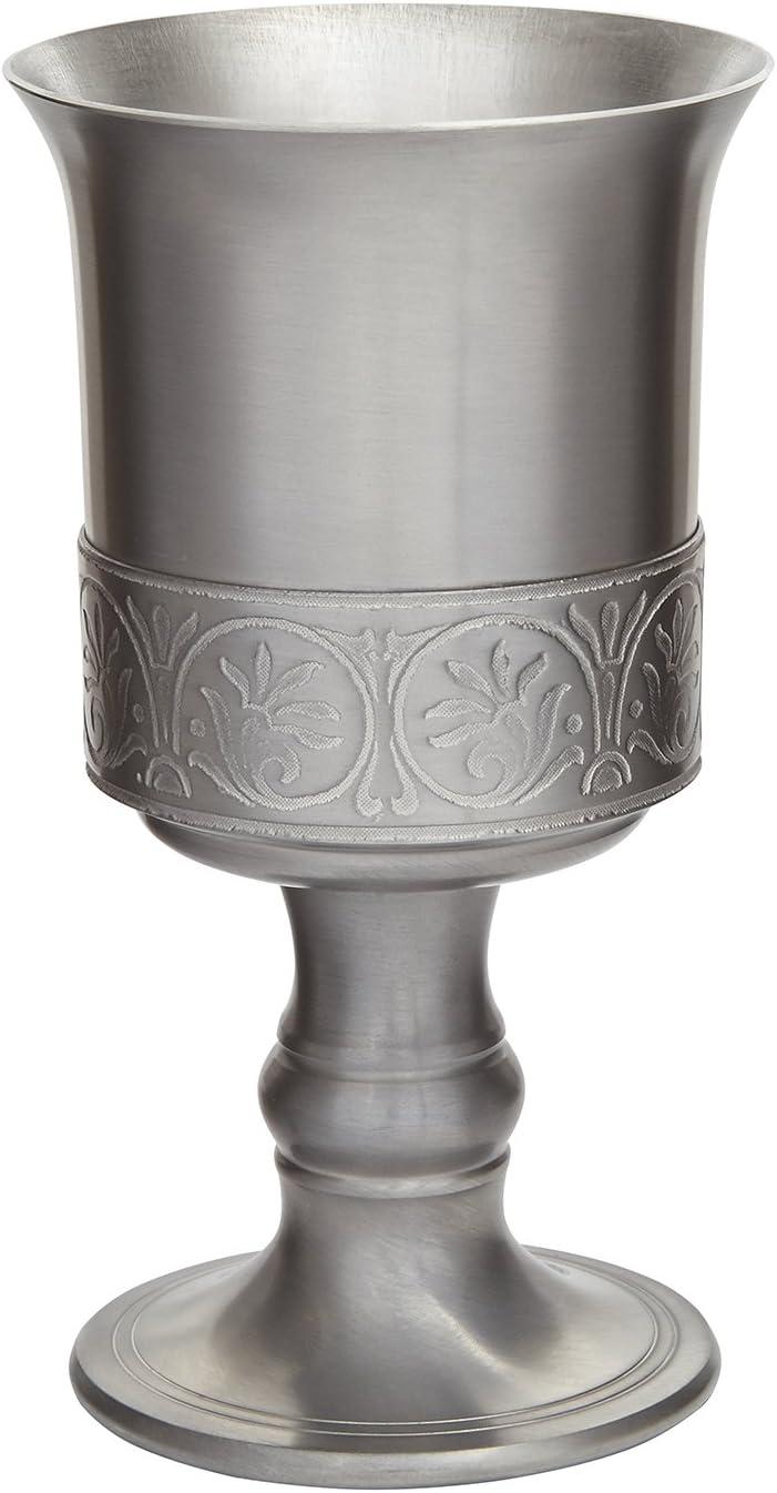 Copa de Peltre Wentworth con Terminado Medieval Antiguo