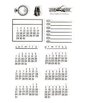 Calendrier Scrapbooking.1 Pc Tampons Calendrier De Temps Transparents Diy