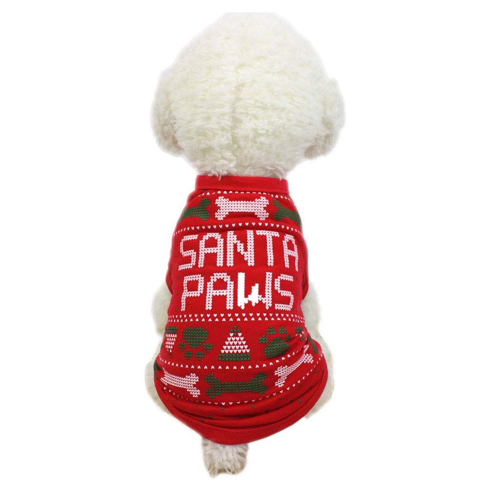 Aida\'s best Christmas Pet Clothes Santa Costume Pet Hoodies Party Dressing Chirstmas Apparel for Small Pets Dogs Puppy Kitten Cat