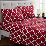 Mellanni Bed Sheet Set Queen - Brushed Microfiber