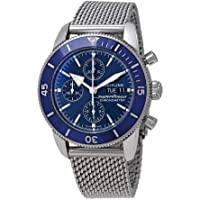 BREITLING Superocean Heritage II Chronograph Automatic Chronometer Blue Dial Men's Watch