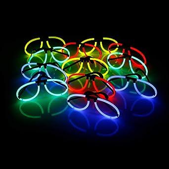 KNIXS Mega Knicklichter Partypack im 6 Farb-Mix gr/ün, rot, blau, gelb, pink, orange
