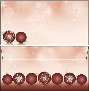 50 Sets Umschläge DIN A4 Weihnachten Christbaumkugel Papier