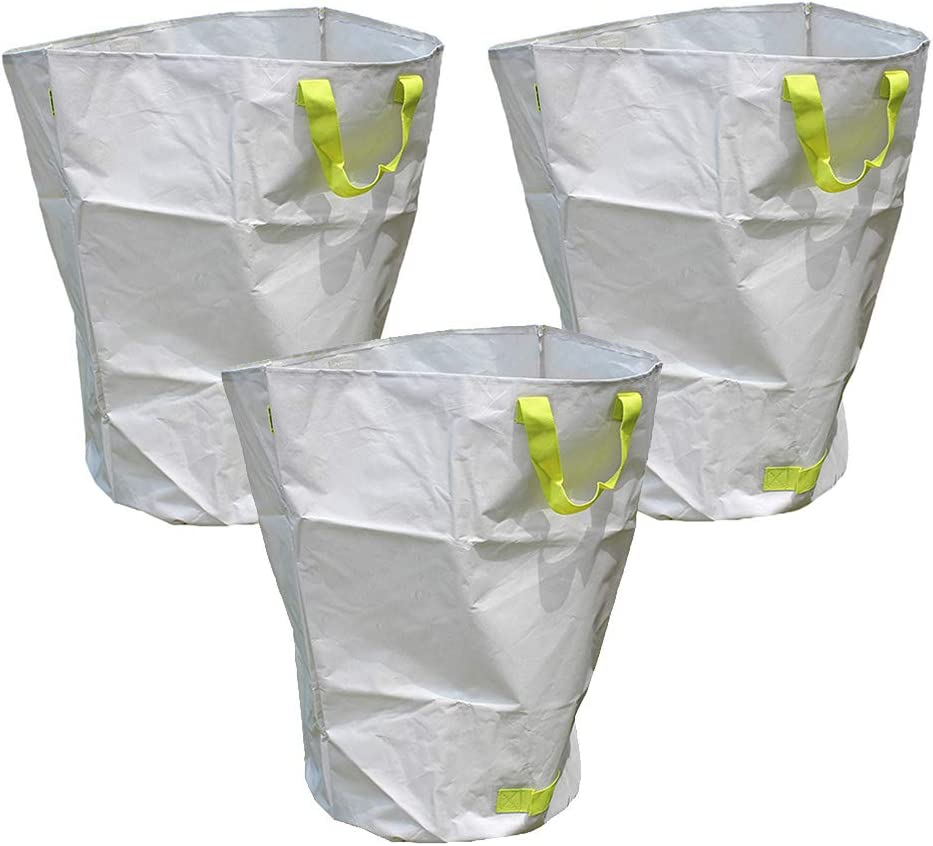 Outdoor supplies Garden Sack Reusable Yard Waste Bags, 137L Extra Large Collapsible Gardening Container Trash Leaves Collector Bag for Yard Lawn Leaf Waste Bags Heavy Duty