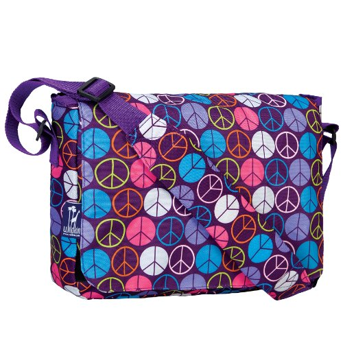 - Messenger Bag, Wildkin 13 x 10 Inch Messenger Bag, Includes Interior and Exterior Pockets and Velcro Closure, Ages 8+, Perfect for School, Sports, and Day Trips – Peace Signs