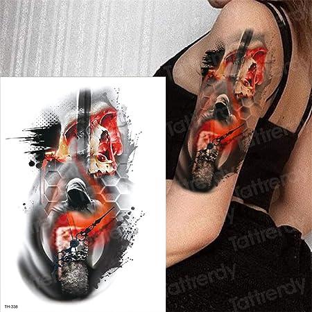 tzxdbh 5 Unids-Gran Brazo Manga Tatuaje Impermeable Temporal Tatto ...