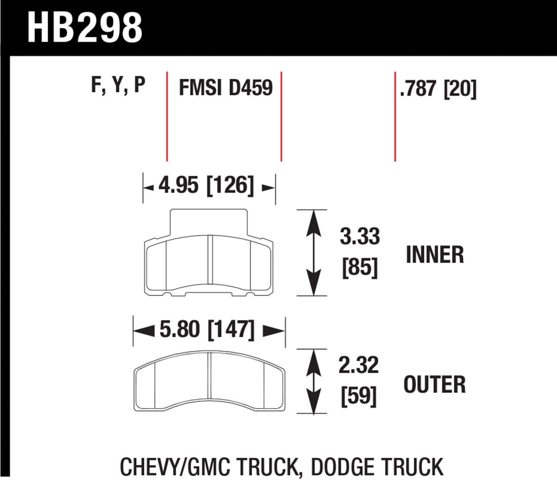 Hawk Performance HB312Y.591 LTS Brake Pad