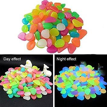 Candora - Juego de 200 Piedras Decorativas Brillantes de 4 Colores para decoración de jardín,