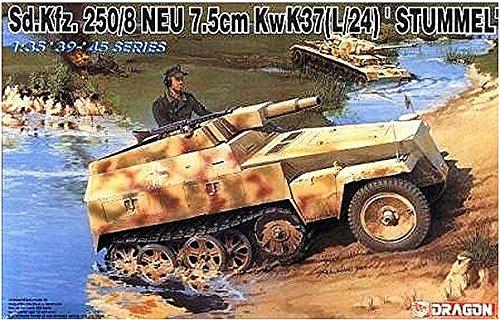 Dragon 1:35 '39-'45 Series Sd.Kfz.250/8 NEU 7.5cm KwK37(L/24) 'Stummel' #6102* (Neu Series)