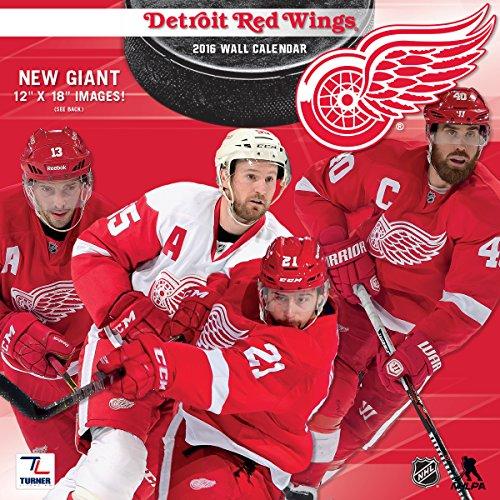 "Turner Detroit Red Wings 2016 Team Wall Calendar, September 2015 - December 2016, 12 x 12"" (8011940)"