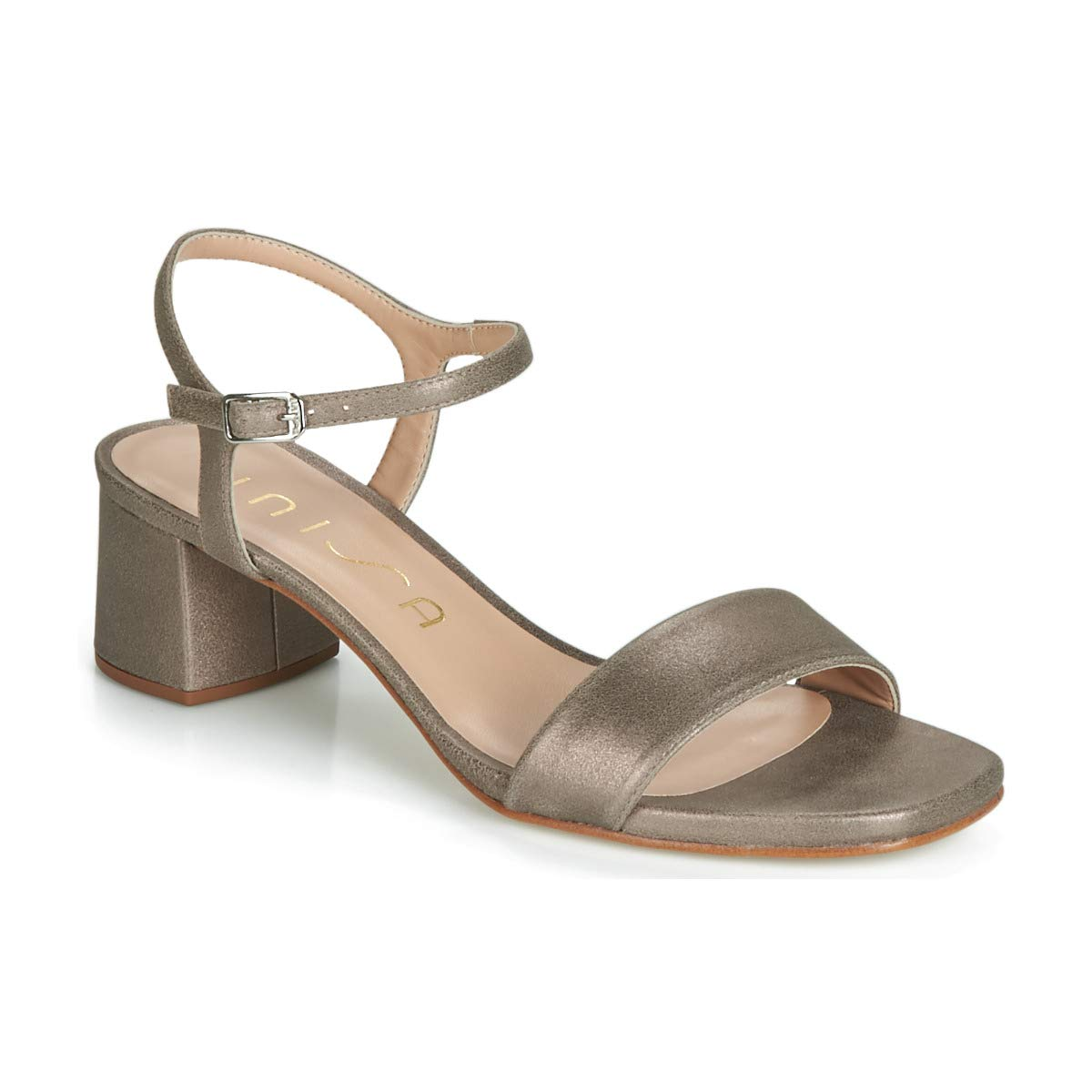 Beige Unisa KRITA Sandalen Sandaletten Damen Silbern Sandalen Sandaletten