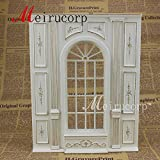 Dollhouse 1/12 Scale Fine Miniature furniture white Hand painted wall