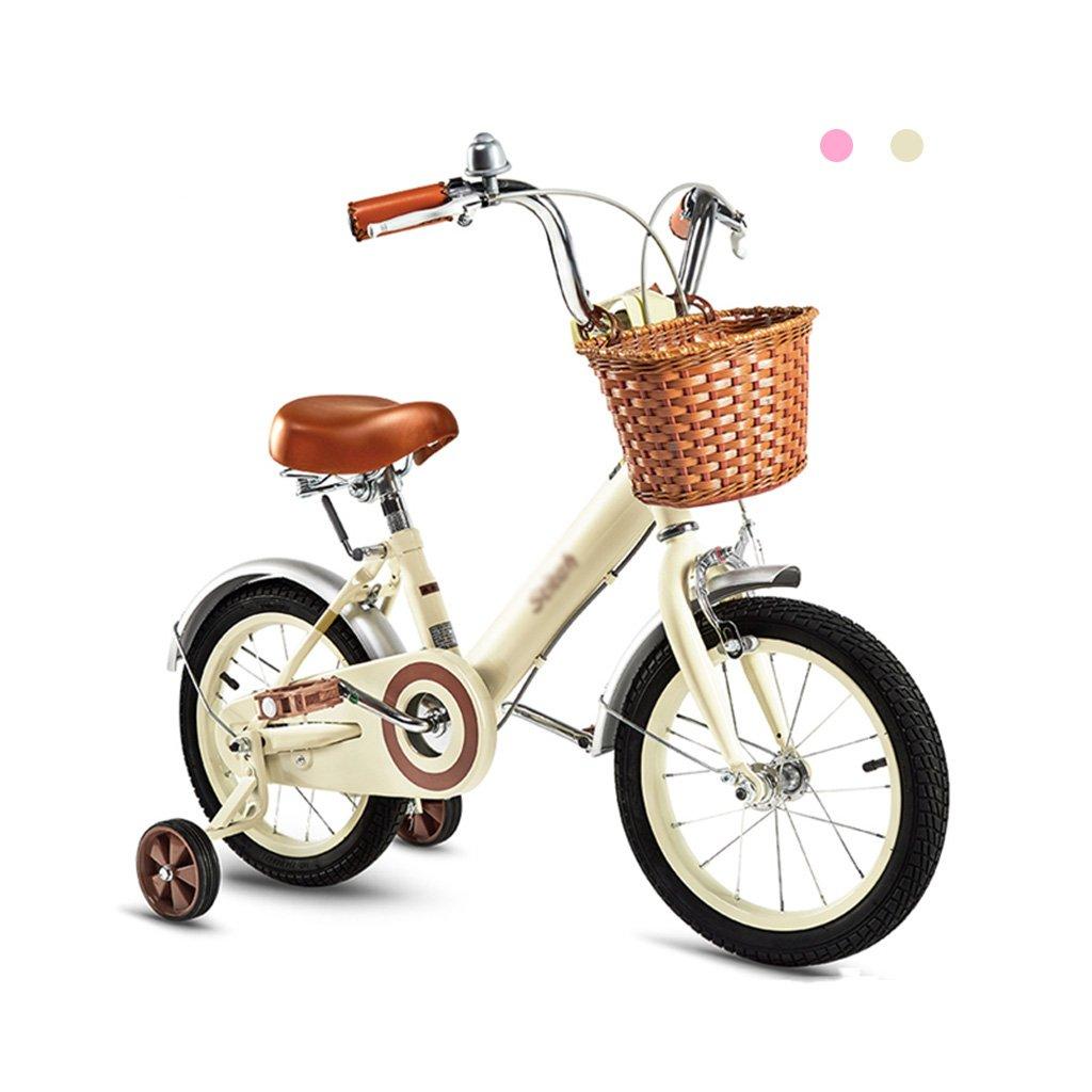 Gai Huaホーム子供用自転車高炭素鋼フレーム子自転車16 /14 /12インチ自転車2 – - 5年古い赤ちゃんキャリッジ B07DQH3M3K 14 inches|ベージュ ベージュ 14 inches