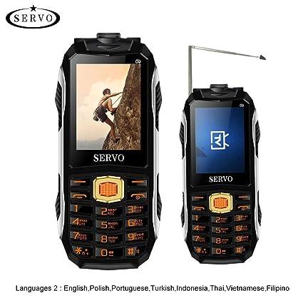 SERVO MAX Celular 2.44 Pulgadas Banda Cuádruple 3 Tarjetas SIM Teléfono, 4000 MAH Soporte para