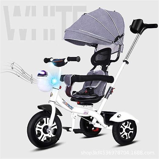 Triciclo Infantil Triciclo de ruedas para niños, con manija de ...