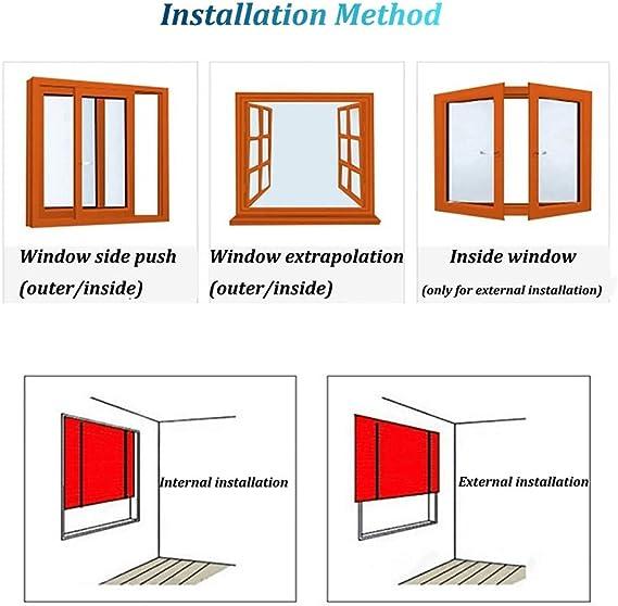 Cortinas enrollables de porche exterior enrolladas en tonos exteriores para patio/tienda de sol/ventana/pérgola o cenador, fácil de montar (tamaño: 100 x 200 cm): Amazon.es: Hogar