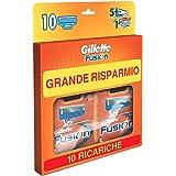 Gillette Fusion Lamette di Ricambio per Rasoio, Confezione da 10 Testine