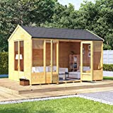 BillyOh 12x8 Petra Tongue and Groove Garden Summerhouse Reverse Apex Roof & Felt 12FT x 8FT