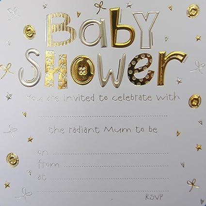 Jean Barrington Baby Shower invitaciones - oro & plata ...