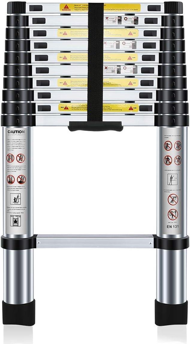 Nestling® 3.2M Escalera Telescópica Multiusos de Aluminio Portátil. Extensión Plegable y Extensible EN131, Carga Máxima 150 kg