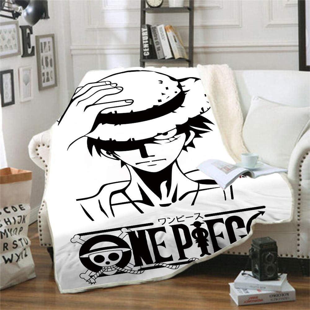 Sweet/&rro17 Anime One Piece Luffy Couverture Plaid en flanelle moelleuse Couverture Plaid Plaid Plaid Doudou Plaid de Voyage