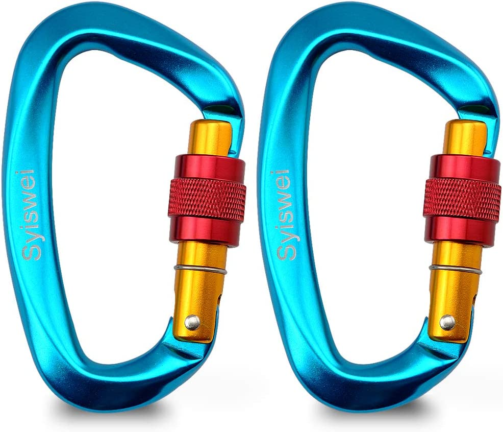 Large Locking Carabiner Clip Holds 5511lbs with Screwgate Clip for Hiking//Travel//Mountaineer Karabiner Outdoor Sport 25KN Rock Climbing Carabiner Carabiner Dog Leash